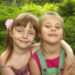 Two little girls — Foto de Stock