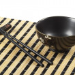 Bowl and chopsticks — Stock Photo