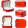 Little jewelry wooden boxes set — Stock Photo #4067833