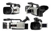 Semi professional camcorders set — Stock Photo