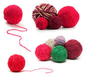 Colored wool clews set — Stock Photo