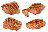 Grilled beef steaks set — Stock Photo