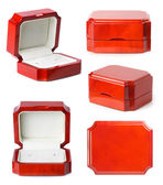 Little jewelry wooden boxes set — Stock Photo
