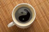 Yin yang coffee — Stock Photo