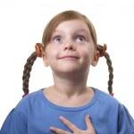 Wondering funny girl — Stock Photo #4206863