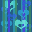 Hearts wallpaper (bluel) — Stock Photo
