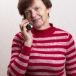 Senior on call — Stock Photo