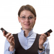 Woman on call — Stock Photo #4808096