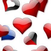 Seamless hearts wallpaper — Stock Photo