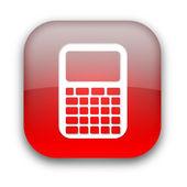 计算器图标按钮 — 图库照片