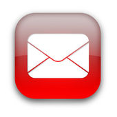 Mail envelope icon button — Stock Photo