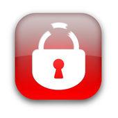 Broken lock button — Стоковое фото