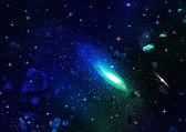 Space. Meteor — Foto Stock