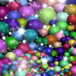 Colorful holiday lights background — Stock Photo