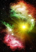 Galaxies and stars — Stock Photo