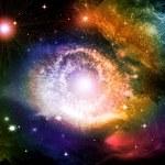 gece gökyüzünde yıldızlar — Stok fotoğraf