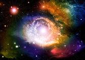 Stars in the night sky — Stock Photo