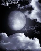 Moon in the night — Stock Photo
