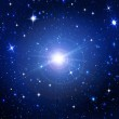 Bright stars in the night dark blue sky — Stock Photo