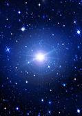 Bright stars in the night dark blue sky — Stock Photo