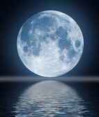 Full moon image with water — Stock Photo