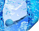 Water bubble floating on water — Stock Photo