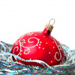 Royalty-Free Stock Photo: Christmas ball on white background