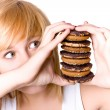Young womwith cookies — Stock Photo #4007838