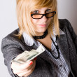 Businesswoman with money — Stock Photo #4068463