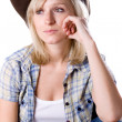 Stock Photo: Pretty western woman
