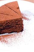 Piece of chocolate cake — Stock Photo
