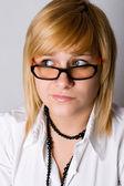 Séduisante jeune femme d'affaires — Photo