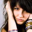Young brunette lady with bracelets — Stock Photo