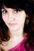 брюнетка привлекательная женщина — Стоковое фото