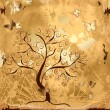 Royalty-Free Stock Vector Image: Grunge background with tree