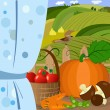 Vector de stock : Harvest time
