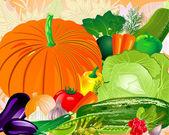 Verduras de la huerta — Vector de stock