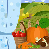 Harvest time — Stock Vector