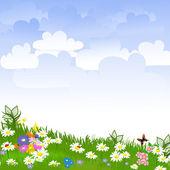 очистка цветок — Cтоковый вектор