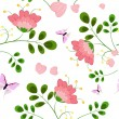 Romantic floral background seamless - Stock Vector
