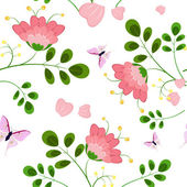 Romantic floral background seamless — Stock Vector