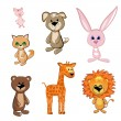 Toy Animals — Stok Vektör #4090030