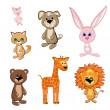 Toy Animals — Stock Vector