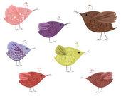 Bird patterned — Stock Vector