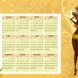 Vecteur: Calendar of native