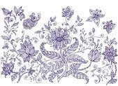 Lawn ornamental flowers — Stock Vector