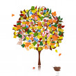 Royalty-Free Stock Vector Image: Ornamental tree in autumn