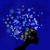 Lady Winter — Stock Vector