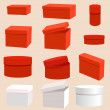 Set of empty boxes - Imagen vectorial