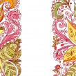 ストックベクタ: Summer abstract floral pattern